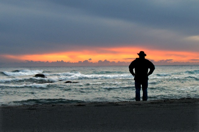 Matt Rivers takes in a Sonoma Coast sunset.