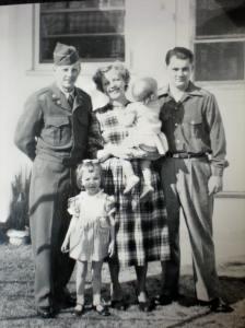 Roger Haag, Lois, Bob, Dee and Pat 1951
